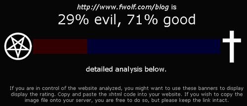 你的网站是evil还是good?