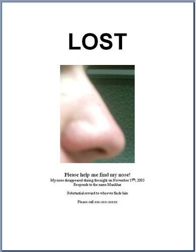 LostNosePoster