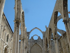 Remains of the cathedral at Lisbon