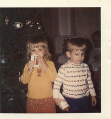 Ed and Cindee at Christmas 1974