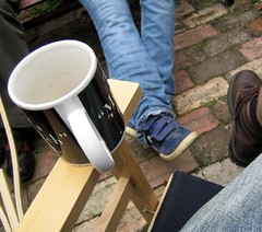 Coffeeage in courtyard