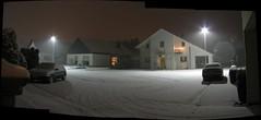 schnee bei nacht