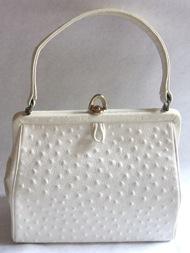Coquette NY white ostrich purse