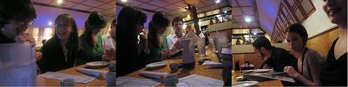 friends at dinner at korea garden, new years 2006