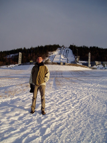 Below the Lillehammer ski jump
