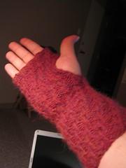 Alpaca wrist warmer, inside