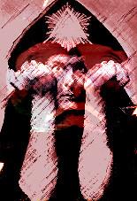 Aleister Crowley, fotomontaje de J.Álvarez