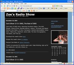 Zoe's Radio Show