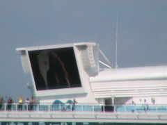 TV Screen on the Lido Deck