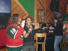 Amy and Angie singing