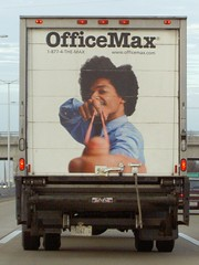 OfficeMax Rubber Band Truck on the E-W