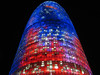 agbar tower by night