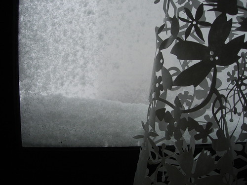 snow at my bedroom window