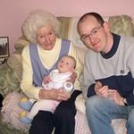 dad and his nan<br/>28 Mar 2005