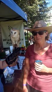 Liz and barn owl