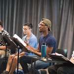 First rehearsal for TREVOR the musical at Writers Theatre. Photo by Joe Mazza—brave lux.