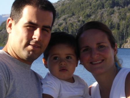Papá Pablo, Santi y mamá Denise
