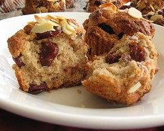 Dried Cherry (Beer) Muffins