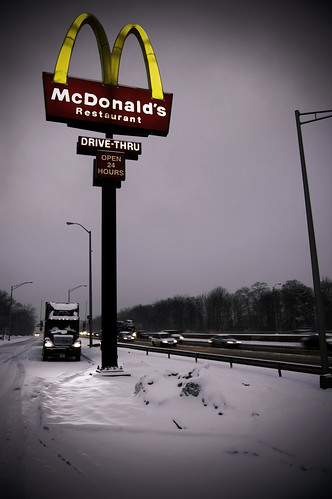 Truck Headlights and Golden Arches
