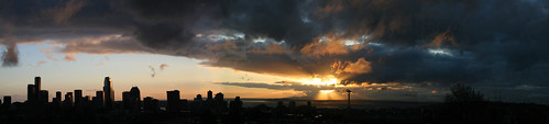 Seattle Sunset Panorama from the Roof