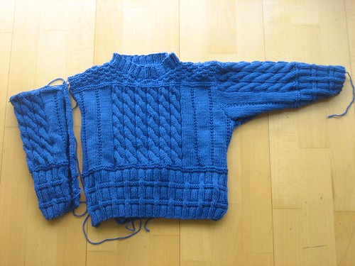 Olympic Sweater, almost finished