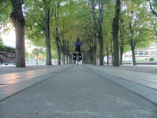 riding away