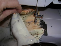 armhole facing sewed