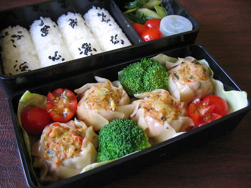 [bento with Thai-style dumplings & veggies]