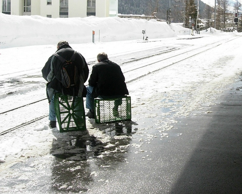 Two men in Davos Dorf
