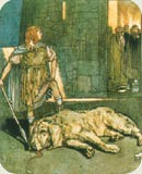 Setanta killed the hound of Culann