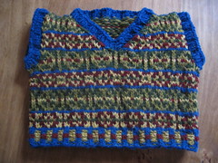 Fair Isle Vest for Bobbi Bear, front