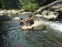 Guys swimming