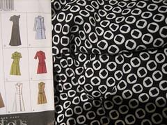 fabric and shirtdress pattern