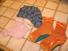 Three Pairs of Kid Socks