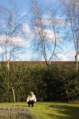 Christine in de tuin zonder polarisator