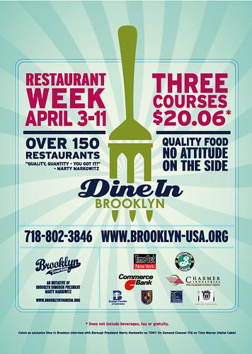 Dine In Brooklyn, 3 April - 11 April