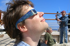 Andrew watching the eclipse