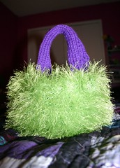Fun fur purse