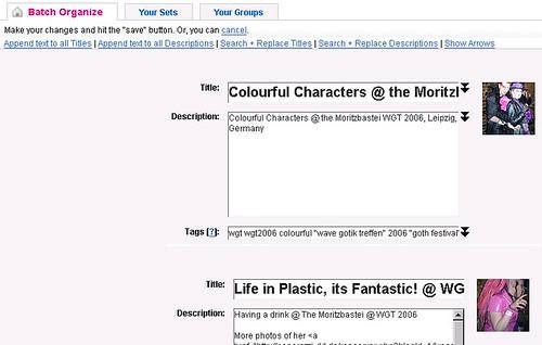 GM Script: Flickr Title and Description Batch Tools