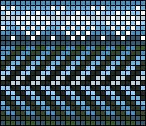mountain lake pattern