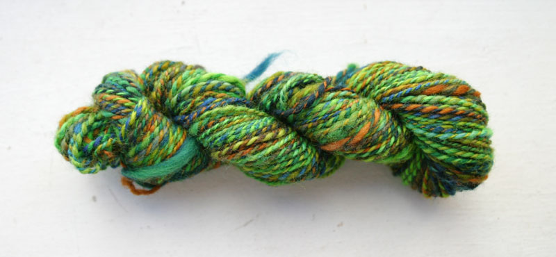 Second plied yarn, skeined