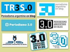 Los 7 logos finalistas del concurso internacional Diseñá el logo de 3.0, Periodismo argentino en blog