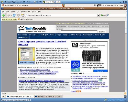 Free VMware Player - TechRepublic