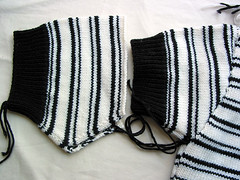White and Black Merino Sweater