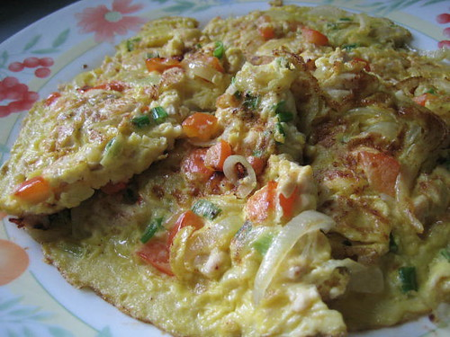 Shredded Chicken Omelette