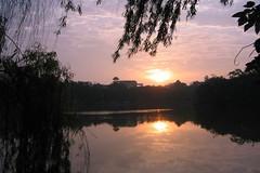 Sun Rise over Hoan Kiem Lake