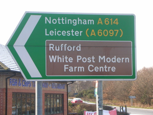 Post modern farm road-sign