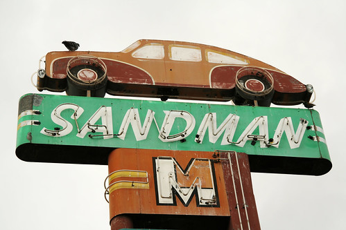 Sandman Motel- Cool old neon
