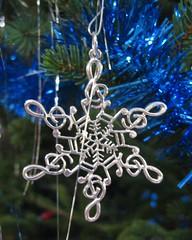 Music snowflake ornament