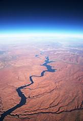 Une rivière vue d'avion